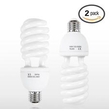 Emart Full Spectrum Light Bulb, 2 x 45W 5500K CFL Daylight for Photography