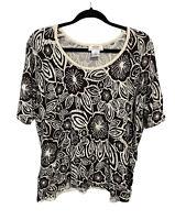 Talbots Short Sleeve Shirt Silk Blouse Top Women's Plus Size Petite Size 2X