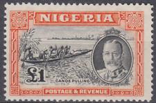 Nigeria 1936 Mint Mounted £1 Black & Orange SG45 Cat £130