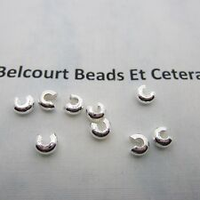 500 Silver Plated 4mm Crimp Bead Covers - Excellent Quality!