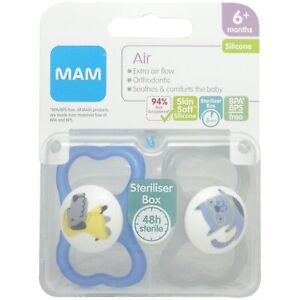 MAM 6+ months soothers air and travel box for boys