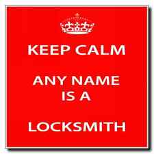 Locksmith Personalised Keep Calm Coaster