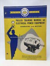 PHILCO Training Manual Electrical Power Equipment Generators Motors 1951 AN-195