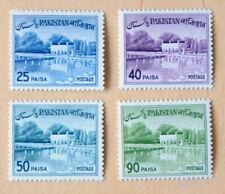 Pakistan 1962 Shalimar gardens Dam Bridge Lahore 4 MNH Stamps