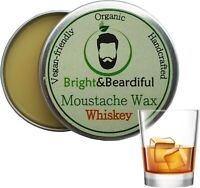 Whiskey Moustache Wax Strong Hold for Styling, Handlebar, Twists & Curls 15ml