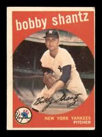 1959 Topps Set Break # 222 Bobby Shantz VG-EX *OBGcards*