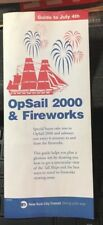 OPSAIL NEW YORK CITY 2000 PROGRAM OPERATION SAIL JULY 4, 2000