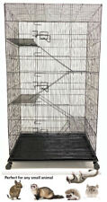 Large Critter Metal Cage 5 Level Narrow Wire Space For Rats,Chinchillas,Ferrets