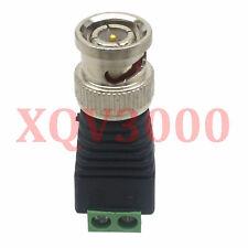 3pc Adapter converter BNC male plug to AV Screw Camera CCTV Video Balum Terminal