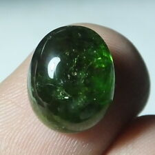 7.00 Carat Natural Green Chrome Diopside Cabochon 12X10 MM Oval Shape Gemstone