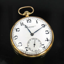Antique Patek Philippe 18K Yellow Gold Open Face Pocket Watch