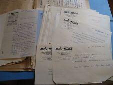"""LOT DE 38 Autographes Signés 1946 DIRECTEURS """"PARIS-MONDE"""" BD Aldé MISTOUFLET"""