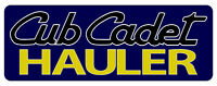 CUB CADET HAULER BUMPER STICKER - SET OF 2