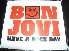 Bon Jovi Have A Nice Day Australian Enhanced CD Single - Like New