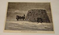 1881 magazine engraving ~ TRAVELERS IN THE ANDES, South America