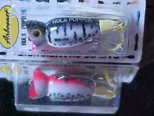 Arbogast 3/8oz Hula Popper G760-09 TopWater Lure in COACH DOG RED BELLY for Bass