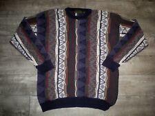 Vintage Croft & Barrow Sweater 90s Biggie Hip Hop Jumper Large Textured 3D Men's