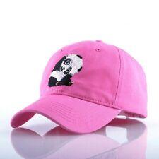 Panda Embroidery Snapback Baseball Cap Men Cappelli Hip Hop Hat For Women Solid