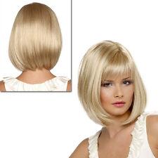 Mode Perruque Mi-longue Blonde Perruques De Cheveux Naturels Straight Sexy