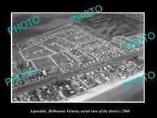 OLD LARGE HISTORIC PHOTO ASPENDALE MELBOURNE AUSTRALIA, DISTRICT VIEW c1960 2