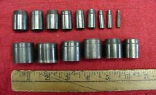 "15 Vintage Unbranded Hollow Body Leather Punches,1/8""-1-1/16"",XLINT Cond., Lot 2"