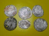 Matthias II 1608-1619 Europe, Patrona, Jesus, Holly Mary, lot of 6 coins, silver