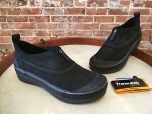 Clarks Black Outdoor Waterproof Leather Muckers Ruck Ankle Rain Bootie  8.5W New