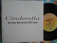 Cinderella Don't Know What You Got (Till It's Gone) UK 7inch Promo Vinyl Single
