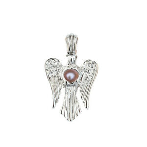 5PC Silver Plated Angel Pearl Cage Locket Pendant For Oyster Pearl Wish Necklace
