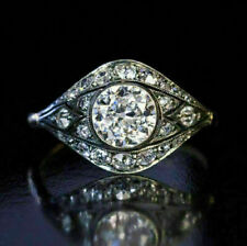 2.50Ct White Round Vvs1 Diamond 14k White Gold Finish Vintage Engagement Ring