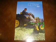 """Original John Deere Dealer EZTRAK Z655 Mower Poster Sign 24"""" X 36"""" Mancave"""