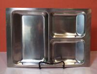 Stelton MCM 18/8 Stainless Steel Divided Tray Platter DENMARK Mid Century Modern