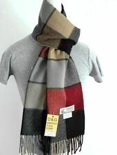 DG Men's Winter Scarf Check-Plaid Red Gray.Black.Cashmere Feel~Warm*Unisex