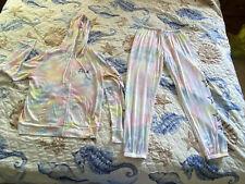 Nwots Victoria's Secret PINK tie dye hoodie/pants sleepwear lounge set