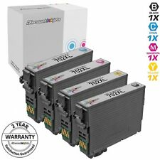 4pk for Epson 702 XL 702XL Ink Cartridge Black & Color Set WF-3720 T702XL120