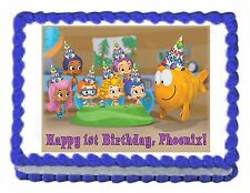 BUBBLE GUPPIES edible cake image party decoration topper frosting sheet