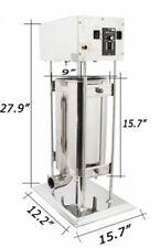 110v Commercial Electric Sausage Stuffer Meat Filler Make Machine 33lb Kitchen