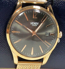 HENRY LONDON Finchley Watch Men's Rose-Gold Stainless Steel HL39-M-0118 NEW