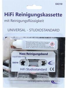 Hochwertige HiFi Audio Reinigungskassette MC + Reinigungsflüssigkeit