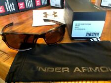 FREE SHIP Under Armour UA Edge Shiny Tortoise Frame Brown Lens Sunglasses $80