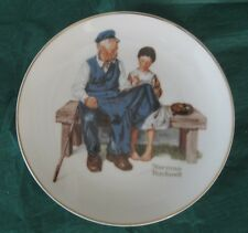 """Norman Rockwell Plate 6-1/2"""" The Lighthouse Keeper's Daughter 1984 Gold Rim 24 k"""