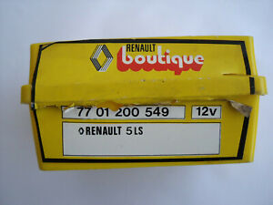 Classic Renault 5 Boutique Mazda lightbulb box 7701200549 Original acessory 12V