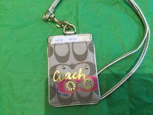 NWT COACH MULTI-Color Pop App Lanyard ID Holder/Case/Badge Holder  #62108