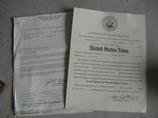 Vintage Set of Us Navy Appointment and Discharge Forms Same Person Look