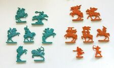 Russian Knights VS Mongols Battle of Kulikovo Vintage Plastic Toy Soldier Flats