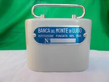 salvadanaio metallo ITALORA Banca Monte Lugo VINTAGE PIGGY BANK SPARDOSE