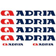 ADRIA XL aufkleber sticker wohnmobil camper wohnwagen caravan 6 Stücke Pieces