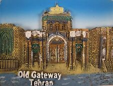 Persian Hand Painted Tehran Old Gateway Persia Historical Iran Fridge Magnet