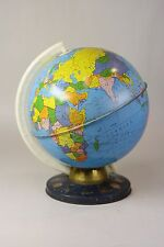 Vintage Retro Ohio Art Tin Metal Litho World Globe Zodiac Star Signs Symbols 29""
