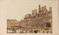 Francia París Instantáneo Hôtel Ayuntamiento Foto Formato CDV N Vintage Albúmina
